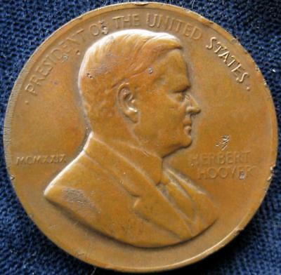 Herbert C Hoover inauguration medal March 4 1929 #67