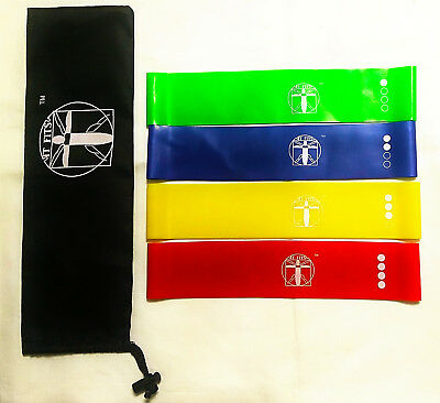 Resistance loop bands 4-pack with carrier bag