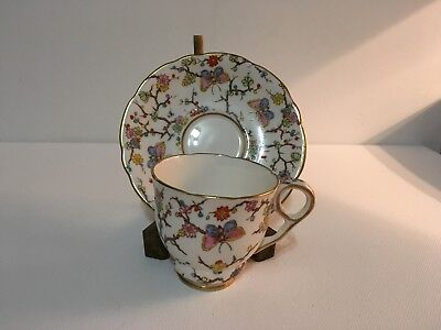ROYAL STAFFORD Demitasse Cup and Saucer BLOSSOM & BUTTERFLY CHINTZ  Pattern
