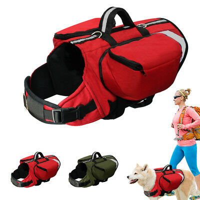 Pet Dog Vest Travel Hiking Camping Saddle Bag Backpack Harness Back Pack Outdoor