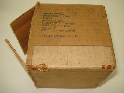 Chicago Standard Transformer Corp potted tube filament supply transformer NIB