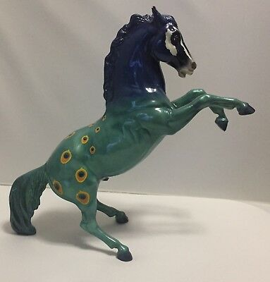 Breyer Star of India Passage to the Pacific glossy Peacock Fighting Stallion
