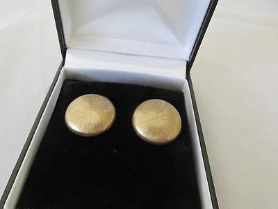 Vintage 9ct Gold Yellow Gold Screw on Earrings Round and Textured