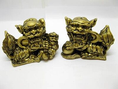 5Pair X 2 Chinese Feng Shui Fu Dog Lions Statue
