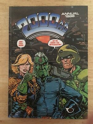 2000AD Annual 1988 featuring Judge Dredd. Hardcover, good condition