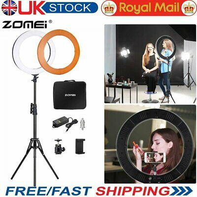"UK 18"" LED Studio Ring Light Photo Video Lamp Light Kit For Camera & Phone + Bag"