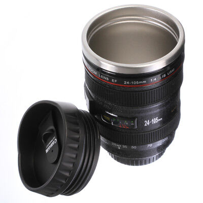 Caniam Camera Lens Thermos As Canon EF 24-105mm Coffee Mug Cup Stainless Steel