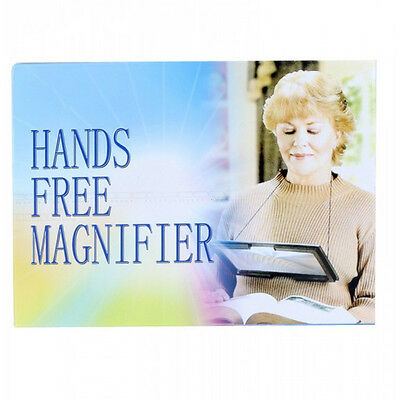 A4 Full Page Large Hands Free Magnifier 3X Foldable Magnifying Glass Loupe 4 LED