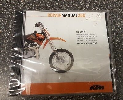 KTM Repair Manual CD-Rom ART no.3.206.037 AC/LC 50 - 07.2000