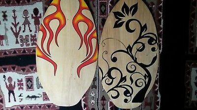 2 Surf Skimboards old but never used made of plywood