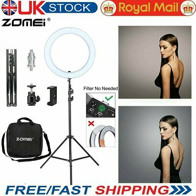 Studio LED 18'' Photo Video Ring Light Dimmable+ Camera iPhone Holder+2M Stand