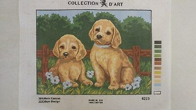 Puppies - Collection D'Art Tapestry Canvas 6223