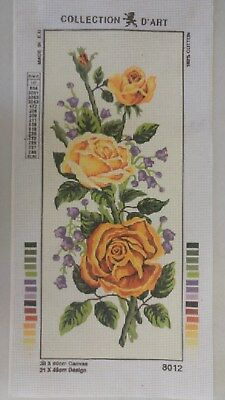 Yellow Roses - Collection D'Art Tapestry Canvas 8012