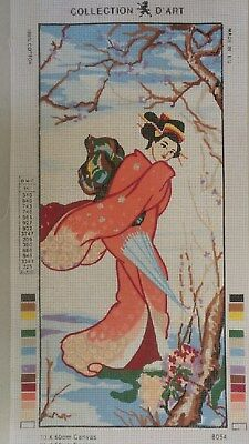 Geisha Girl - Collection D'Art Tapestry Canvas 8054