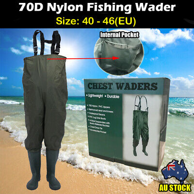 Size 7 Waterproof Fishing Trousers Rain Boots All in One Overall for Wader