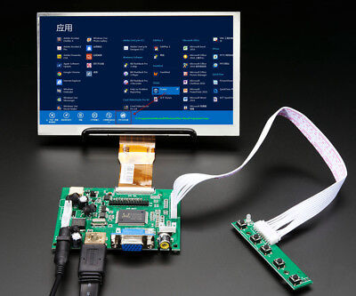 7 INCH HIGH Resolution Raspberry Pi LCD Display Screen HDMI Driver Control  Board