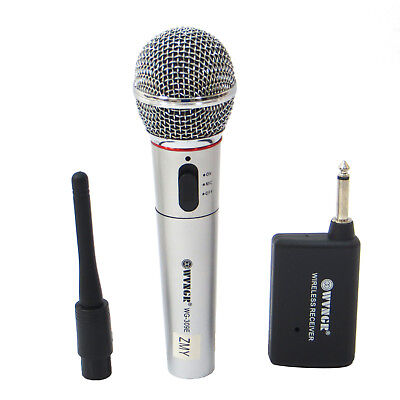 Microfono wireless senza fili e cablato WG-309E karaoke conferenze interviste