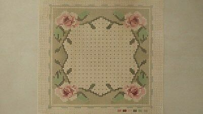 4 Rose Border - Tapestry Canvas