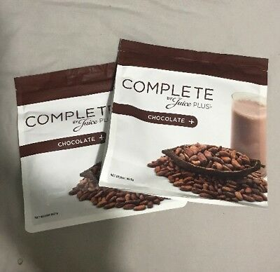 JUICE PLUS COMPLETE SHAKES CHOCOLATE 2 Pouches 9/18