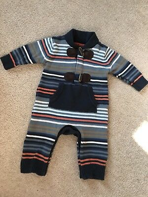 M&S Autograph Boys Outfit Romper All In One Stripes 0-3 Months