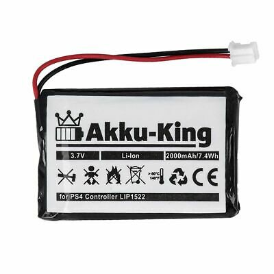 Akku-King Akku LIP1522 für PS4 Sony Playstation 4 Controller 2000mAh