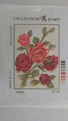 Roses - Collection D'Art Tapestry Canvas 3113