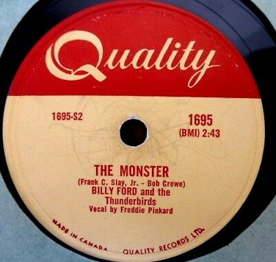 Schellack 78 rpm Billy Ford+the Thunderbirds The Monster Quality 1695 La Dee Dah