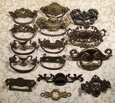 Original mixed antique Brass And Metal Victorian Pulls