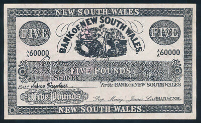 """Bank of New South Wales 1845 £5 Sydney used in FILM """"Robbery Under Arms"""""""