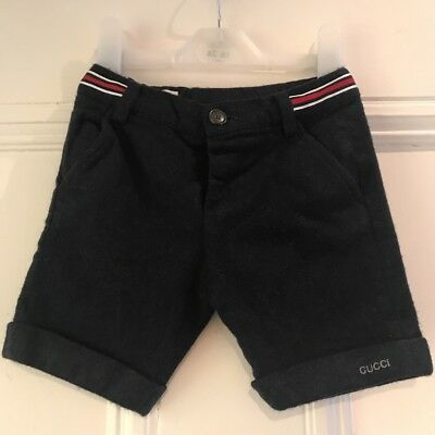 Gucci Boys 100% Wool Shorts Trousers 11/2 - 2 Y 18 - 24 M Worn Once Euc Rrp £140