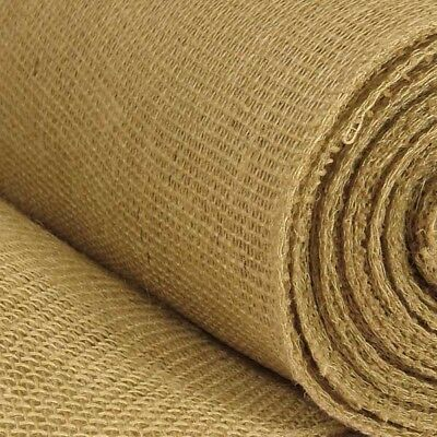 "Hessian Fabric 12oz Jute Burlap Upholstery, Craft 54"" / 135cm Wide"