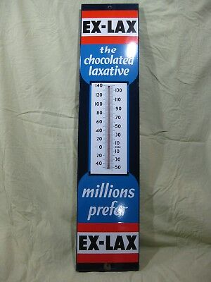 Antique Vintage EX LAX Collectible Advertising Thermometer Sign
