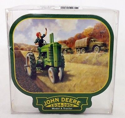 Official John Deere Drink Coasters Model A B Tractors Farm Design Set of 4 NOS