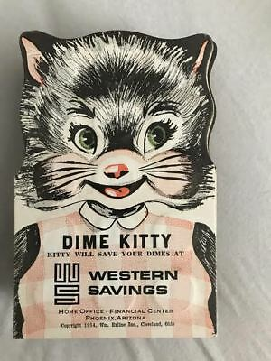 VINTAGE 1954 DIME KITTY WESTERN SAVINGS FOLDER PHOENIX, ARIZONA empty