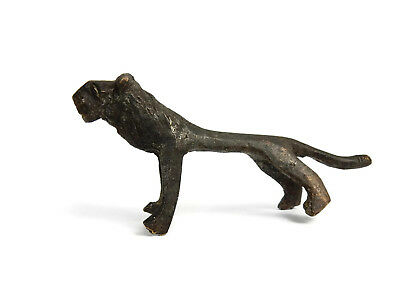 Rare Antique African Bronze Ashanti Gold Weight - a Lion