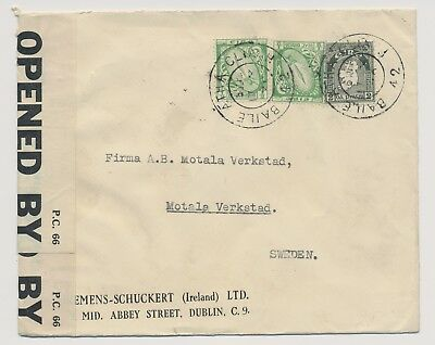 Ireland Irland Censored Cover to Sweden 1942