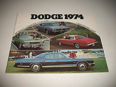 1974 Dodge Cdn Issue Sales Brochure Monaco Charger Dart Challenger Coronet Clean