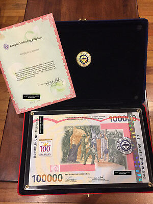 P100,000 Rare Legal Banknote - Guinness World Record for Largest Note