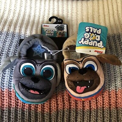 NWT Puppy Dog Pals Slippers Shoes New Size 5/6 Small Toddler Baby Disney Junior