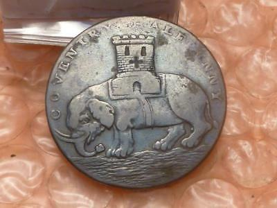 1793 Lady Godiva Elephant Colonial Halfpenny Trade Token Lettered Edge Orig. #A