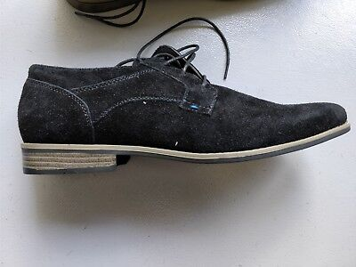 River Island Suede Derby Shoes In Black