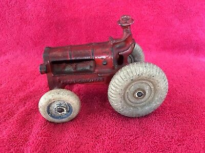 Antique Old Vintage Arcade Balloon Tires ALLIS CHALMERS Tractor Cast Iron Red
