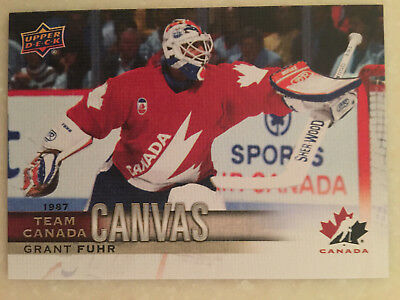 GRANT FUHR 17-18 UD Hockey Team CANADA CANVAS 1987 SP  #TTC-48 Oilers