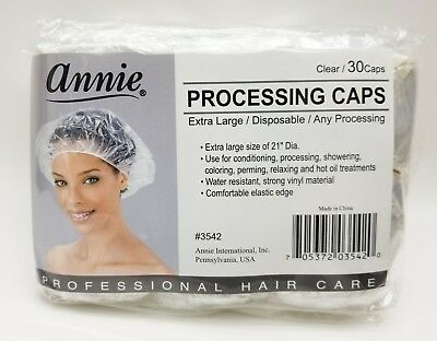 Annie Processing Caps 30caps | Clear | Extra Large | Disposable | Any Processing