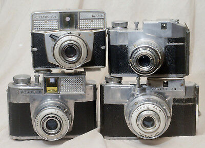 1950's Bencini Korroll and Comet Cameras. Made in Italy
