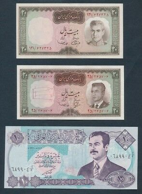 Middle East: 1965 & 1969 20 & 1992 banknotes