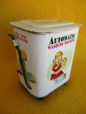 Vintage Toy Washing Machine Automatic Wind Up Girl Japan Dolls Clothes Baby Old