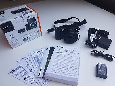 Sony Alpha ILCE-5100L 24.3 MP Digitalkamera - Schwarz (Kit m/ E PZ 16-50mm...