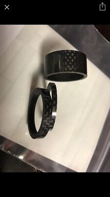 """1 1/8 """" Carbon Spacer 3-5-10-15-20mm ultralight"""