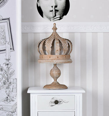 Candle Holders Crown Chandelier Country House Style Table Candlestick Iron